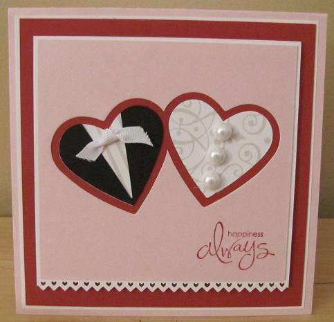 stampin with kristin bridal shower card