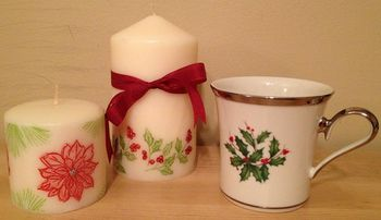 Christmas Countdown Candles