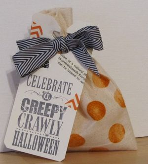 Mini Muslin Halloween Bags