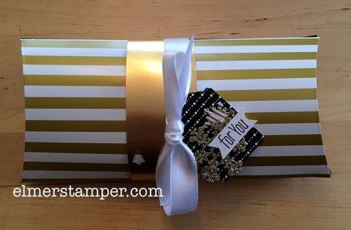 Metallic Stripe Pillow Box