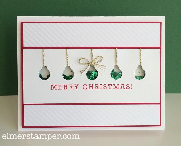 Stampers Dozen Blog Hop - Stampin Up Christmas Sneak Peek Shaker Card by Kristin Kortonick
